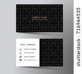 modern business card template... | Shutterstock .eps vector #716964535