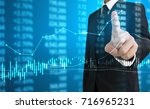 investment concept hand with... | Shutterstock . vector #716965231