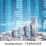 graph coins stock finance and... | Shutterstock . vector #716965249