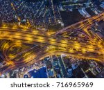 aerial view of expressway and... | Shutterstock . vector #716965969