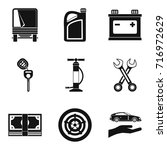 replacing part icons set.... | Shutterstock .eps vector #716972629