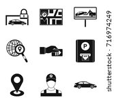 valet icons set. simple set of... | Shutterstock .eps vector #716974249