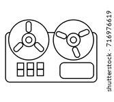 reel tape recorder icon....   Shutterstock .eps vector #716976619