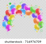 colorful balloons on... | Shutterstock .eps vector #716976709