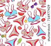 beautiful seamless pattern of... | Shutterstock .eps vector #716977429