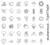 thermometer icons set. outline... | Shutterstock .eps vector #716977609