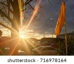 Sunburst At Dawn Overlooking An ...