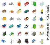rich icons set. isometric style ... | Shutterstock .eps vector #716978389