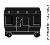 wagon  single icon in black... | Shutterstock .eps vector #716978575