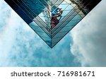 office building in hong kong ... | Shutterstock . vector #716981671