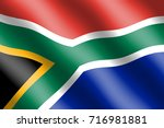 south africa flag for... | Shutterstock . vector #716981881