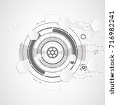 abstract technological...   Shutterstock .eps vector #716982241