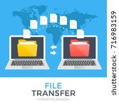 file transfer. two laptops with ...