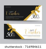 gift voucher template promotion ... | Shutterstock .eps vector #716984611