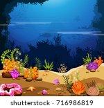 sea scene   the ocean and...   Shutterstock .eps vector #716986819