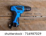 close up electric drill  drill... | Shutterstock . vector #716987029