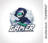 gamer boy character design in... | Shutterstock .eps vector #716988967