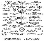 set of decorative elements.... | Shutterstock .eps vector #716993329