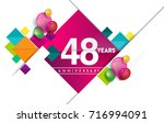 48th years anniversary logo ... | Shutterstock .eps vector #716994091