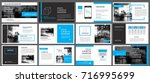 blue element for slide... | Shutterstock .eps vector #716995699