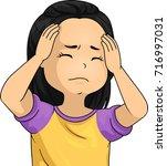 illustration of a kid girl... | Shutterstock .eps vector #716997031
