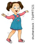 illustration of a kid girl with ... | Shutterstock .eps vector #716997121