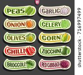vector set labels with text for ... | Shutterstock .eps vector #716997499
