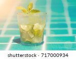 mojito cocktails refreshing for ...   Shutterstock . vector #717000934