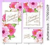 vintage delicate invitation... | Shutterstock .eps vector #717001639