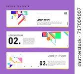 vector set of abstract banner... | Shutterstock .eps vector #717009007