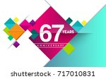 67th years anniversary logo ... | Shutterstock .eps vector #717010831