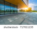 modern building and empty... | Shutterstock . vector #717011155