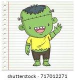 doodle frankenstein color on...