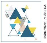 abstract scandinavian... | Shutterstock .eps vector #717013165