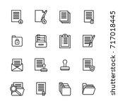 folders thin line icon set...   Shutterstock .eps vector #717018445