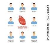 cartoon heart attack... | Shutterstock .eps vector #717018655