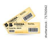 illustration of movie ticket on ... | Shutterstock .eps vector #71702062