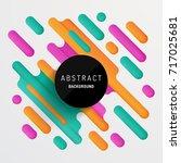 modern geometric background... | Shutterstock .eps vector #717025681