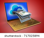 3d illustration of golden... | Shutterstock . vector #717025894