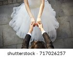 young asian bride and groom... | Shutterstock . vector #717026257