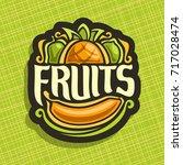 vector logo for set fresh... | Shutterstock .eps vector #717028474