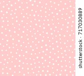 irregular polka dots. trendy... | Shutterstock .eps vector #717030889