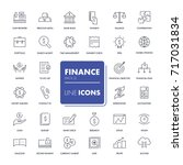 line icons set. finance pack.... | Shutterstock .eps vector #717031834