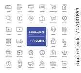 line icons set. e commerce pack.... | Shutterstock .eps vector #717031891