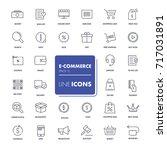 line icons set. e commerce pack.... | Shutterstock .eps vector #717031891