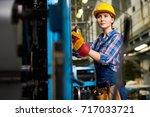 confident young engineer...   Shutterstock . vector #717033721