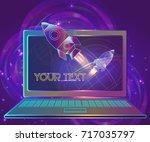vector illustration business... | Shutterstock .eps vector #717035797