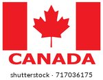 canada flag patch. vector. | Shutterstock .eps vector #717036175