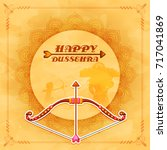 happy dussehra background... | Shutterstock .eps vector #717041869