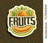 vector logo for set fresh... | Shutterstock .eps vector #717043345